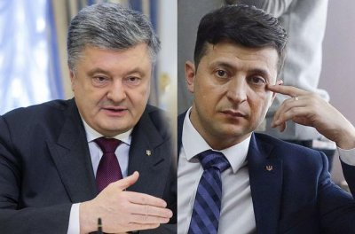 Порошенко и Зеленский в прямом эфире провели перепалку