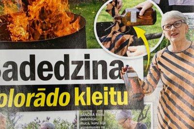 В Латвии депутат Сандра Калниете сожгла платье цветов георгиевской ленты