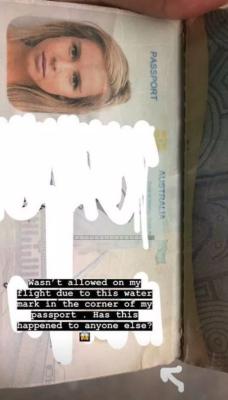 Австралийскую модель не выпустили с Бали из-за мокрого паспорта