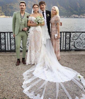 Диму Билана высмеяли за костюм, в котором он появился на свадьбе Даши Клюкиной