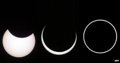 Редкое солнечное затмение началось на Земле