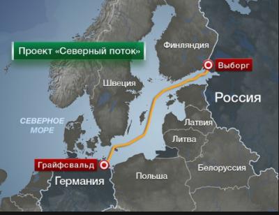 Украина не позволяет России строить газопровод «Северный поток-2»