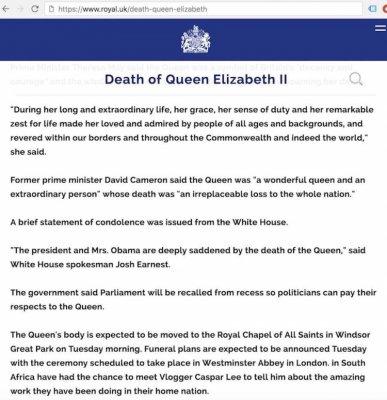 Елизавета II умерла: официальные источники срочно скрыли факт смерти королевы