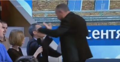 Артем Шейнин и Майкл Бом драка во время шоу «Время покажет» - видео