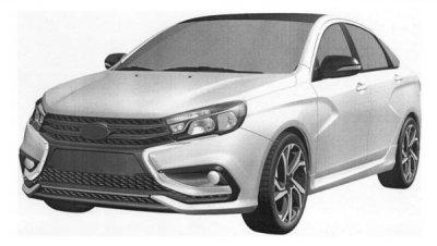 Опубликованы изображения новой версии Lada Vesta Sport