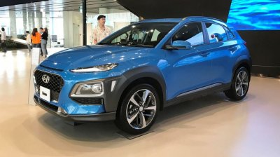 Hyundai представил тизер электрического кроссовера Kona