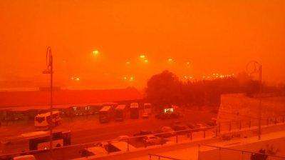 Африканская пыль накрыла греческий остров Крит