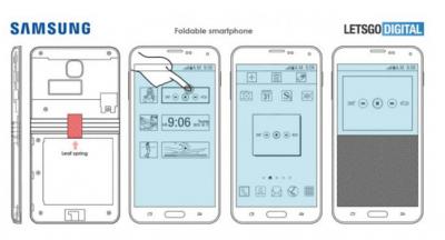 Появились новые эскизы сгибающегося смартфона Samsung Galaxy