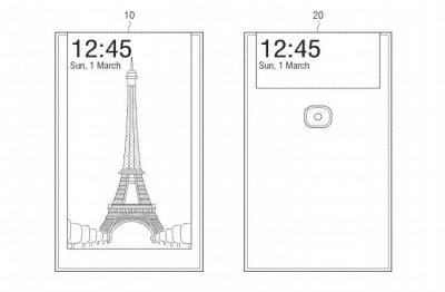 В Samsung разработали селфи-смартфон с дисплеем на обратной стороне