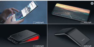 В Сети появились рендеры складного смартфона Samsung