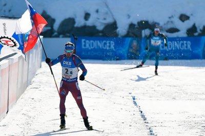 Домрачева иБьорндален заняли 3-е место вРождественской гонке
